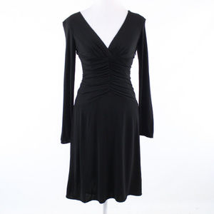 Kay Unger black long sleeve dress 2